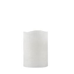 N/A Led bloklys med timer - hvid 10 cm fra fenomen