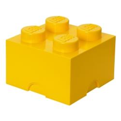 N/A Lego klods til opbevaring - brick 4 gul fra fenomen