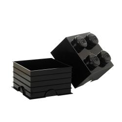 N/A – Lego klods til opbevaring - brick 4 sort fra fenomen