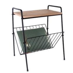 Billede af Lille side bord i metal og træ