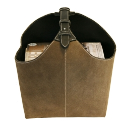 Image of   Magasinholder suede - brun / sort