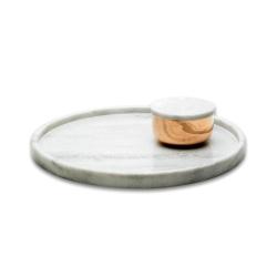 Billede af Stor coaster / bakke i hvid marmor