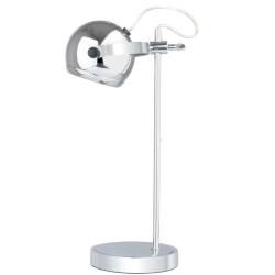 Billede af Mini retro bord lampe - krom