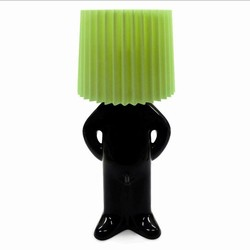Billede af Mr. P lampe - sort/grøn skærm