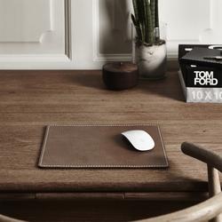 Musemåtte firkantet - brun læder fra N/A fra fenomen