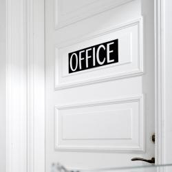 N/A Sign i sort læder - office på fenomen