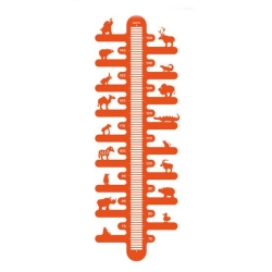 Billede af Højdemåler - Zoometer i orange