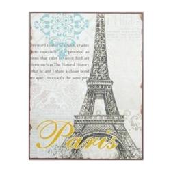 Billede af Metal skilt - Paris Eiffel tårnet