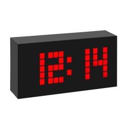 Digital vækkeur radiokontrolleret - sort
