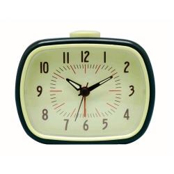 Retro vækkeur med alarm - sort