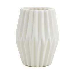 Billede af Riflet vase i hvid