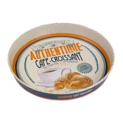 N/A – Rund metal bakke - café croissant på fenomen