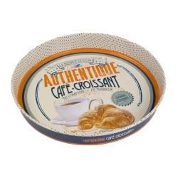 Rund metal bakke - Café Croissant