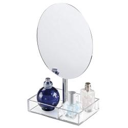 Rund spejl med akryl holder