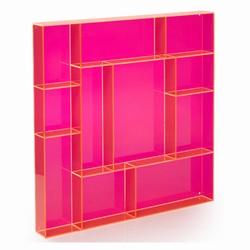 Billede af Sættekasse kvadratisk - pink akryl