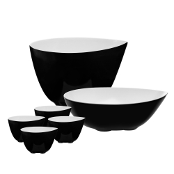 Zone skåle sæt - sort/hvid