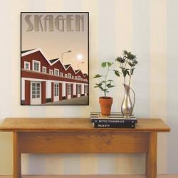 Billede af Skagen havn plakat - Vissevasse