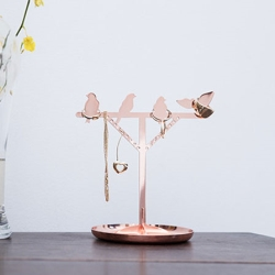 Billede af Smykkeholder med fugle - kobber