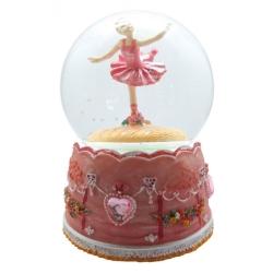 Snekugle med ballerina og glimmer