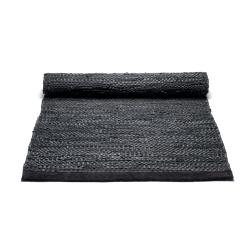 Rug Solid - sort løber 75x200 cm