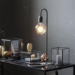 N/A Sort lampe til globepære fra fenomen