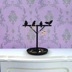 Billede af Smykkeholder med fugle - sort