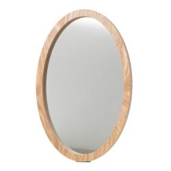 Spejl med træ ramme - ovalt