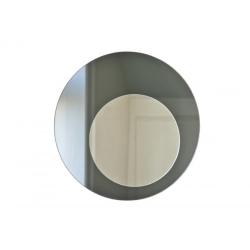 We rund spejl - graphite silver