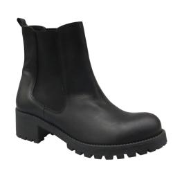 Sorte læder støvler - Isabel