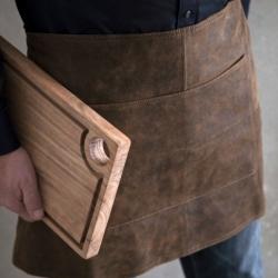 Image of   Læder forklæde i brun - Stuff Design