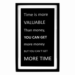 Skilt - Time is valuable