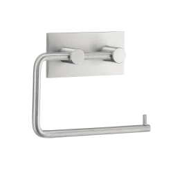 Toiletrulleholder med elvklæbende bagside - børstet stål