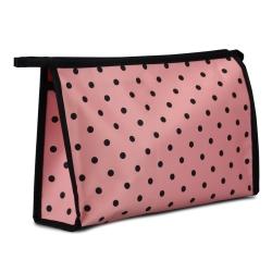 Image of   Toilettaske - rosa med prikker