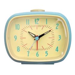 Retro vækkeur med alarm - blå