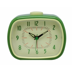Retro vækkeur med alarm - grøn