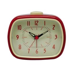 Billede af Retro vækkeur med alarm - rød