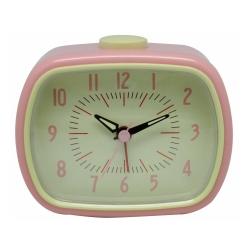Retro vækkeur med alarm - rosa