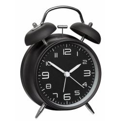 Billede af Sort vækkeur med klokker