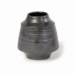 Billede af Retro vase i grå keramik