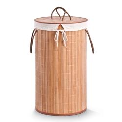 Image of   Rund vasketøjskurv i bambus - natur