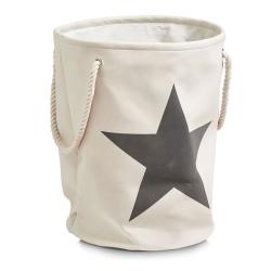 Billede af Vasketøjskurv med stjerne - beige