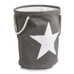 Billede af Vasketøjskurv med stjerne - grå