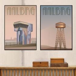 Plakat Aalborg tårnet - Vissevasse 30x40 cm