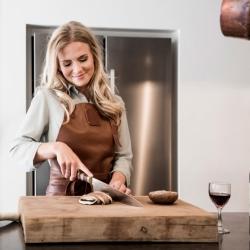 Image of   Læder forklæde dame i cognac - Witloft