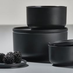 Peili skåle sorte - 3 stk. fra N/A på fenomen
