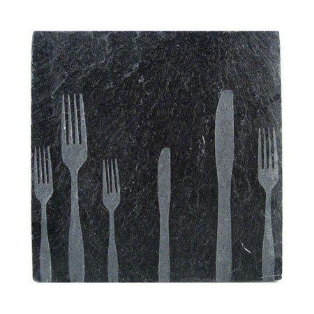 Bordskåner - sort skiffer