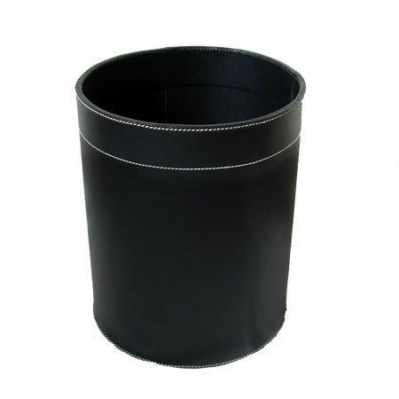 Papirkurv - sort læder