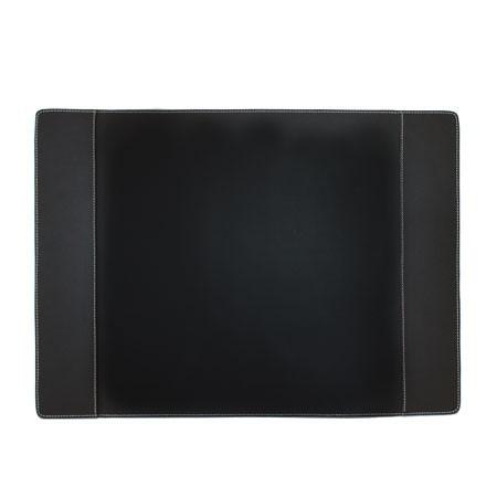 Skrivebordsunderlag - sort læder (large)