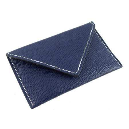 Visitkortholder - blå læder