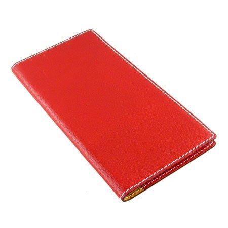 Visitkort mappe - rød læder